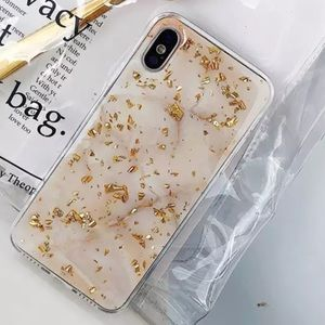 Luxury Gold Marble Phone Case For iPhone 8, 8+, X